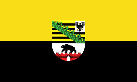 Vector flag of Saxony-Anhalt is a landlocked federal state of Germany