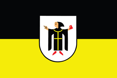 Vector flag of Munich with Coat of Arms, Germany