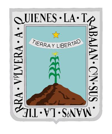 morelos: Vector flag of Morelos, Mexico. Illustration