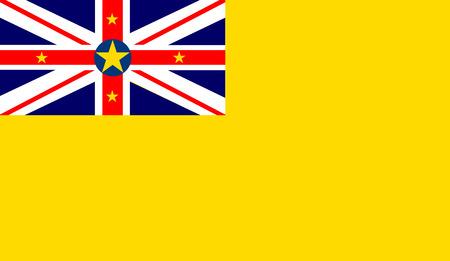 niue: Niue flag vector illustration.