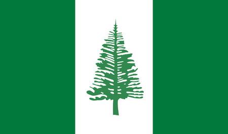 kingston: Vector flag of Norfolk Island (Australia) - Kingston.