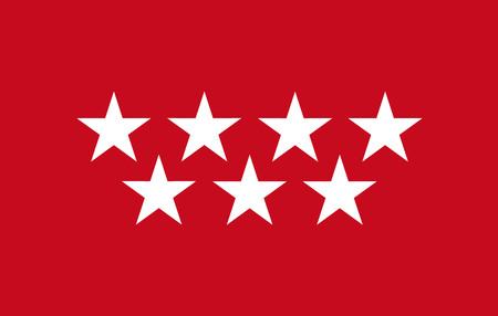 madrid: Community of Madrid flag vector, Spain territory province.