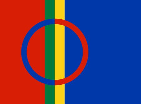 saami: Sami people vector flag illustration. Illustration