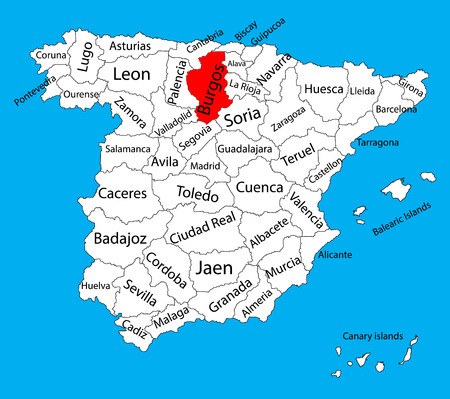 Burgos Map, Spain Province Vector Map. High Detailed Vector Map ...