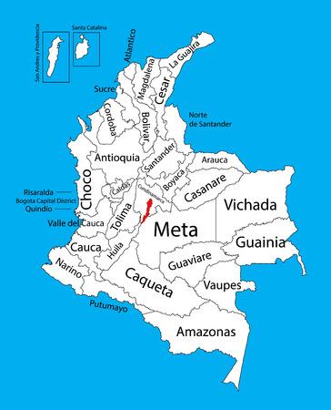 madrid: Vector map of region of Bogota, Distrito Capital, Colombia editable vector map.  Administrative divisions of Colombia editable map.