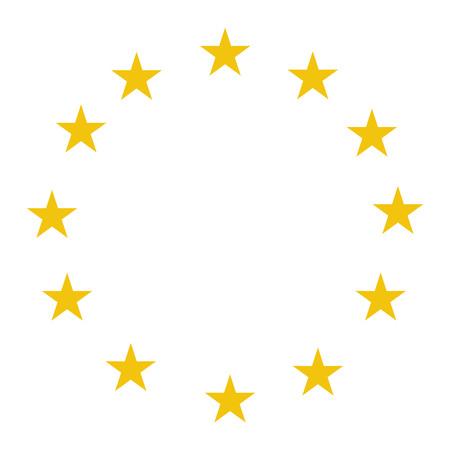 Étoiles de l'illustration vectorielle de l'Union européenne. Etoiles du drapeau de l'UE. Les stars du drapeau de l'Union européenne.