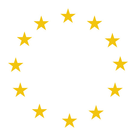 Stars of the European Union vector illustration. EU flag stars. European Union flag stars.