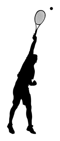 Tennis player vector silhouette isolated