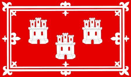 Vector flag of Aberdeen, Scotland, UK. Illustration