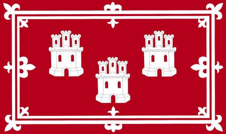 Vector flag of Aberdeen, Scotland, UK.