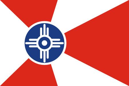 위치 타시 플래그 벡터, 캔자스, 미국. 일러스트