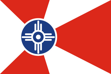 Wichita city flag vector, Kansas, United States of America.