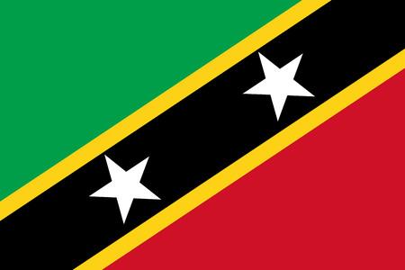 Saint Kitts and Nevis flag vector. Caribbean state flag.