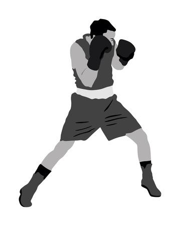boxeur dans l & # 39 ; anneau illustration vectorielle isolé sur fond blanc Vecteurs
