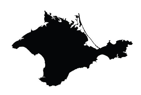 République autonome de Crimée - carte vectorielle, isolée sur fond blanc. Illustration de silhouette détaillée haute. Illustration de la carte de l'oblast de Russie. Vecteurs