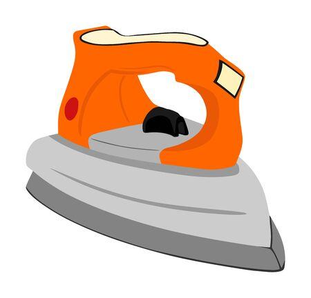 Iron vector isolated. Flatiron vector illustration isolated on white background. utility ironing service