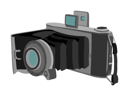 Vintage camera vector isolated on white background. Old photo camera.
