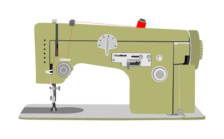 Sewing machine vector illustration isolated on white background. Fashion industry tool. Stock fotó - 129272122
