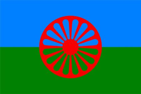 Romani people flag vector. Gypsy flag vector. 8th of April, International Romani Day. 스톡 콘텐츠 - 134477782