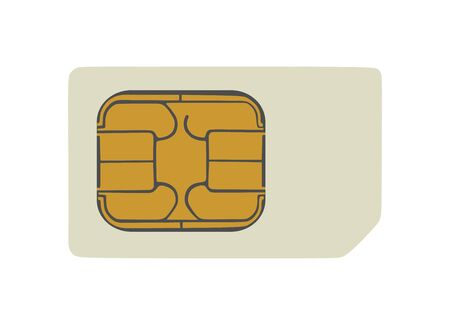 Smart phone sim card vector illustration isolated on white background.