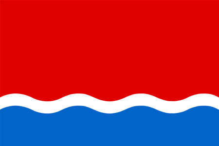Amur oblast flag vector illustration, Russian federation territory. Russia state.