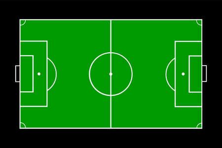 Football soccer field vector illustration. Ilustração
