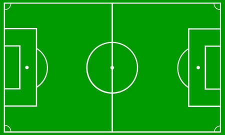 Football soccer field vector illustration. Coach table for tactic presentation for players. Sport strategy view.