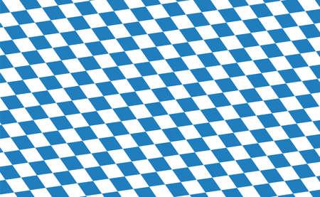 October fest Bavarian flag vector illustration. German Bavaria symbol. Decorative seamless. Иллюстрация