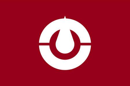 Kochi flag vector illustration.  Japan prefecture symbol.