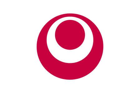 Okinawa flag vector illustration.  Japan prefecture symbol. Иллюстрация