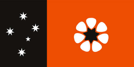 Northern Territory flag vector illustration. Country in Australia.