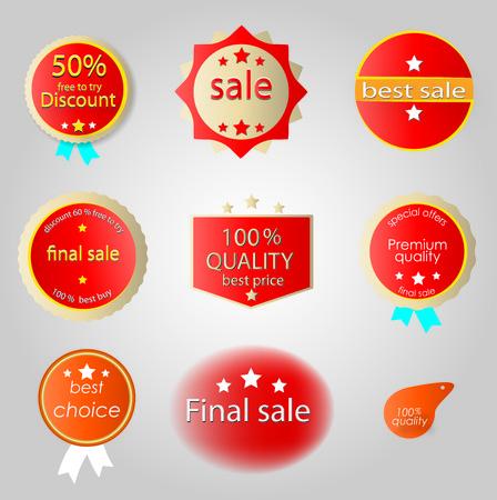 sewn: sale labels Illustration