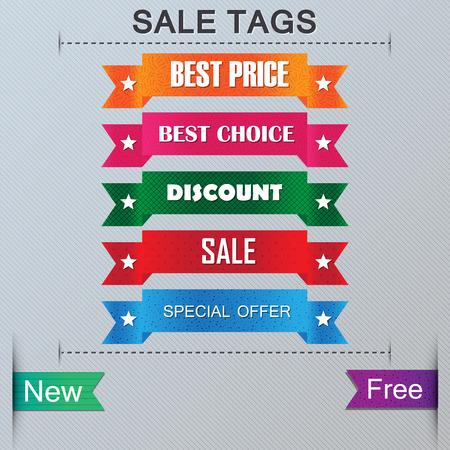 sewn: sale tags