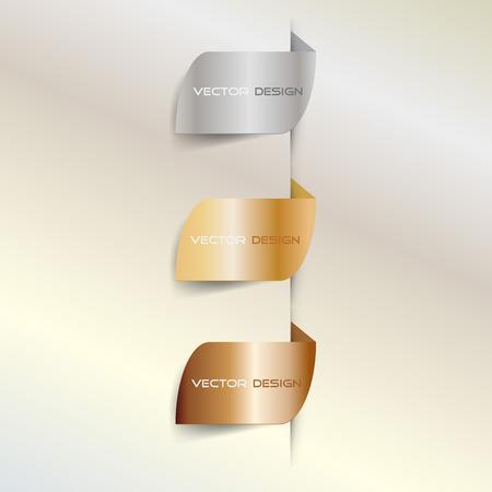 horizental: Vector golden banners Illustration