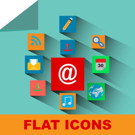 adress book: flat icons