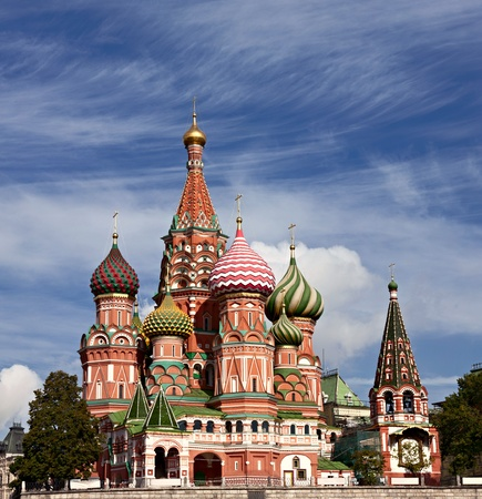 red square: Saint Basils Cathedral, Moscow. Cathedral of Intercession of Theotokos on the Moat erected on the Red Square in Moscow in 1555–1561