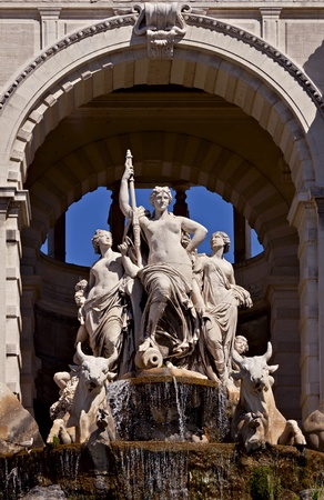 Central statue at the Longchamp, Marseille photo