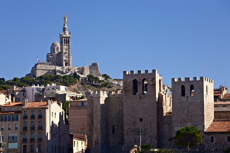 garde: Basilica Notre Dame de la Garde and Cathedral Abbey of Saint Victor. The most famous cathedrals of Marseille