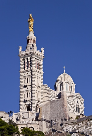 garde: Basilique Notre Dame de la Garde, Marseille, France Stock Photo