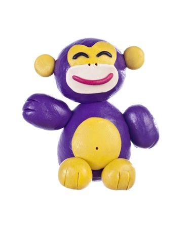 plastic toys: Plasticine monkey. Symbol of oriental calendar Stock Photo