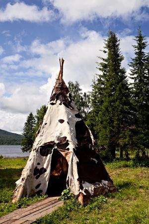 tepee: White tepee Stock Photo