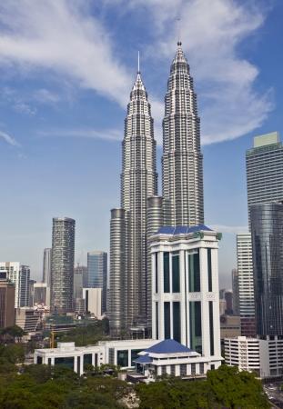 Petronas Twin Towers at Kuala Lumpur, Malaysia Stock Photo - 13096689