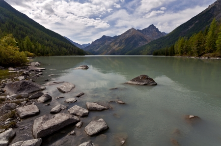 altay: Kucherla lake, Altay, Russia
