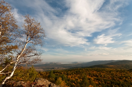 urals: Autumn landscape, South Urals, Russia Stock Photo