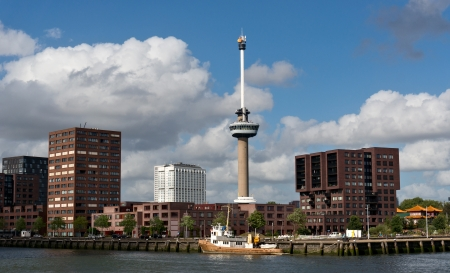 euromast: Observation tower Euromast in Rotterdam, Netherlands