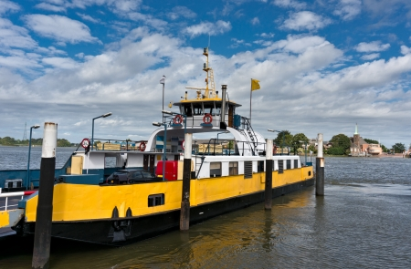 maas: Ferry boat on the Nieuwe Maas river, Netherlands Stock Photo