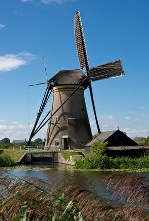 Windmill in Kinderdijk, netherlands photo