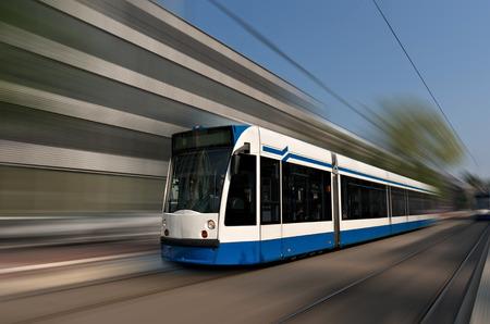 tramway: Amsterdam tramway in motion