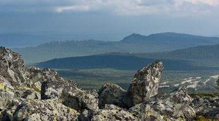 urals: Mountains of Southern Urals, Russia Stock Photo
