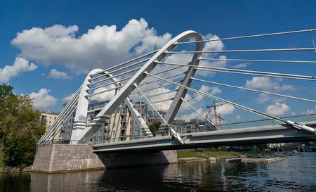 reconstructed: Lazarevsky bridge in Saint Petersburg, Russia. Reconstructed in 2009